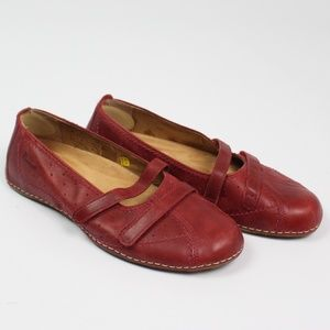 Dr Marten red casual Travel Reddy mary jane shoes